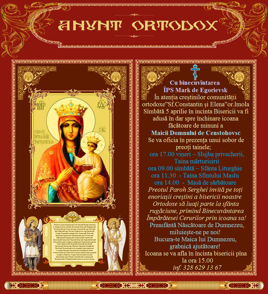 anunt ortodox md
